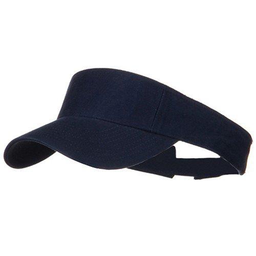Pro Style Cotton Twill Washed Visor - Navy