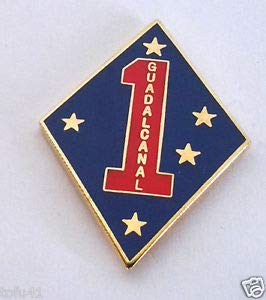 Pin for Backpacks - U.S. Marine Corp 1ST Division Guadalcanal Military Veteran Hat Pin - Accessories for ()