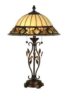 (Dale Tiffany TT90172 Pebblestone Table Lamp, Antique Golden Sand and Art Glass Shade)