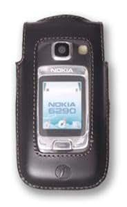 Komsa - Funda de cuero para Nokia 6290 , color negro