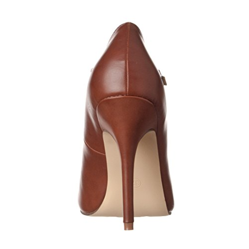 Sadie Riverberry T Women's brown Pumps Strap Toe pu Heel Round High qwP5nO5r