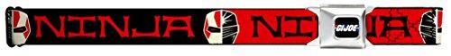 GI JOE Seatbelt Belt Ninja Face Black/Red/White