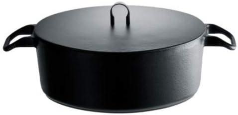 """24 cm Alessi LA Cintura di Orione/"""" Ovale Cocotte aus emailiertem Gu/ßeisen Silber"""