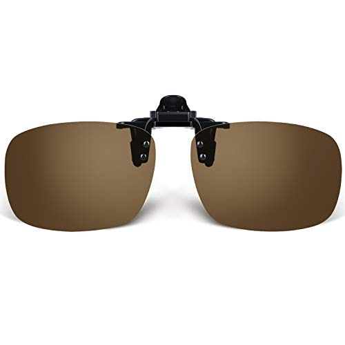 (Besgoods Polarized Clip-on Sunglasses Flip up Glasses Plastic Lenses Outdoor Fishing Sports)
