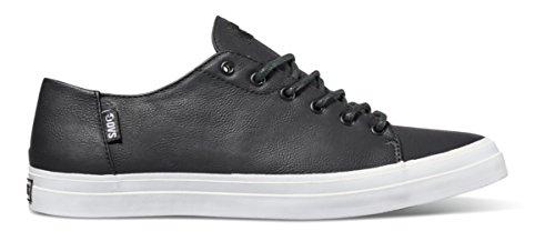 DVS Hombres del edmon Skate zapatos, color negro/blanco, 8 UK color negro/blanco