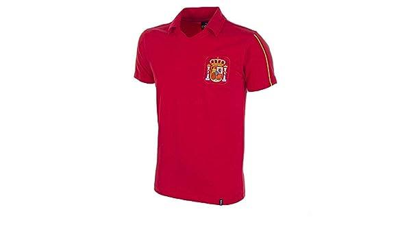 Copa Football - Camiseta Retro España años 1980 (S): Amazon.es: Deportes y aire libre