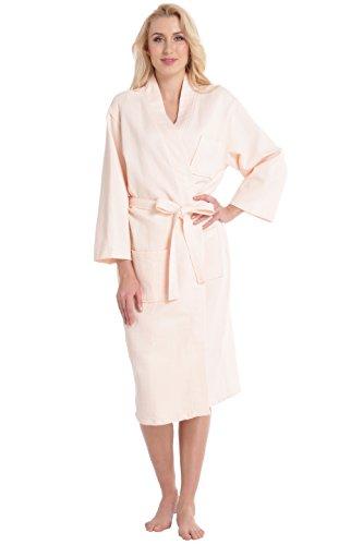 Aibrou Womens Kimono Collar Bathrobe