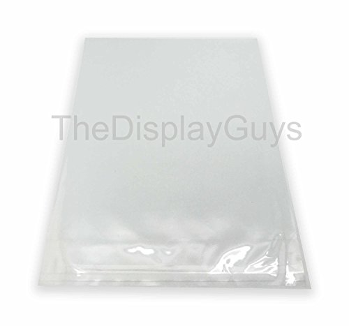 The Display Guys, 100 Pcs 12 7/16 x 18 1/4 Clear Self Adhesive Plastic Bags for 12 x 18 inches Picture, Poster, Photo Framing Mats ...