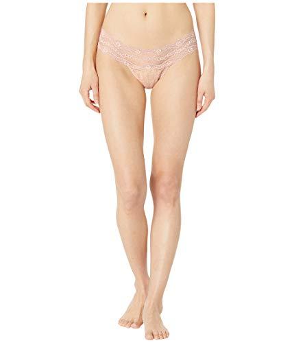 (b.tempt'd by Wacoal Women's Lace Kiss Thong Panty, Rose Smoke,)