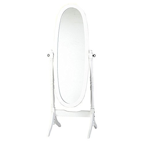 White painted Cheval Mirror Shabby chic NEW by Payless Shop by Payless Shop