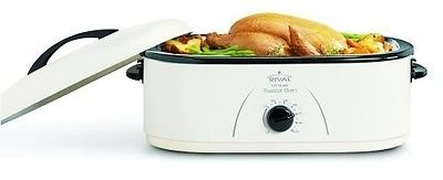 Rival 18-Quart Roaster Oven with Removable Roasting Rack & Pan (White) (Broiler Pan For Gas Oven compare prices)