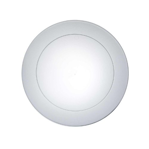 Party Essentials N721 Hard Plastic Round Salad Plate, 7-1/2