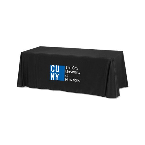 CUNY Black 6 foot Table Throw 'Official Logo' by CollegeFanGear