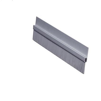 Pemko Brush Door Bottom Sweep Clear Anodized Aluminum with 0.625 Gray Nylon Brush insert 18061CNB36 0.25 Width 1.375 H x 36 L Clear Anodized Aluminum with 0.625 Gray Nylon Brush insert 0.25 Width 1.375 H x 36 L Pemko Manufacturing Company Inc