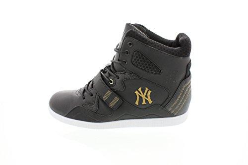 Nike - Zapatillas de baloncesto de cuero para mujer - blk/old gold