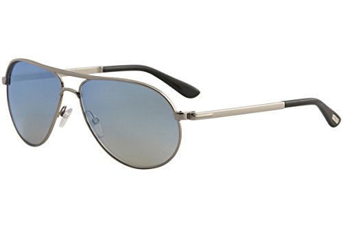 5431dafe2c TOM FORD FT0144 MARKO 14X - shiny light ruthenium   blu mirror Metal