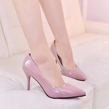 Mujer ggx Blushing Pu Plano Tacones Negro Primavera Gris Rosa Pink Lvyuan Informal Confort 5BwqHqx