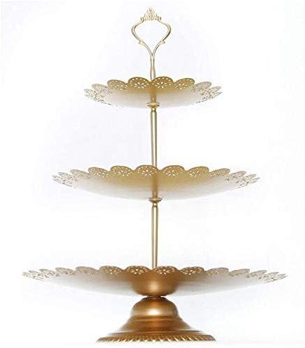 Kaibrite Lot de 12 pr/ésentoirs /à g/âteaux 3 /étages avec Support Rond en Cristal pour Biscuits ou Fruits