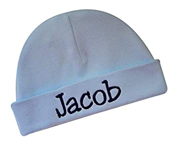 ae9b0f94520f9 Embroidered LIGHT BLUE Baby Boy Hat Personalized Keepsake Custom Infant Hat  for Baby Boys - Funny