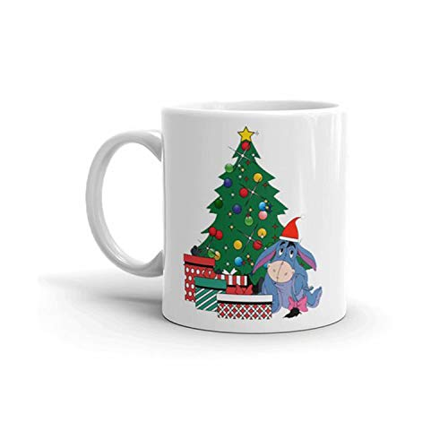 Sofieya mugs,Eeyore Around The Christmas Tree Winnie The Pooh Mug,Valentines Day,Mothers Day Gifts for Mom,novelty-coffee-mugs