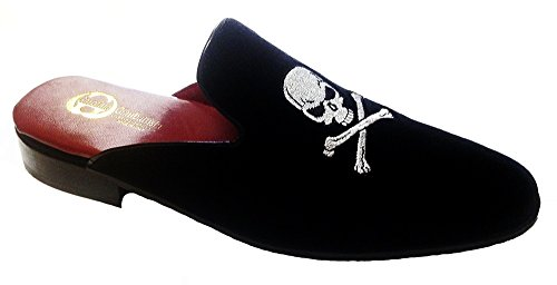 Garofalo Gianbattista slippers modello sabot in velluto con ricamo teschio Venta Extremadamente Compra Consultar Barato Descuento 2018 Más Reciente Más Barato En Línea NxZsPdaC3x