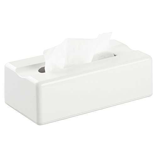 Metrodecor Facial Tissue Box Cover Holder For Bathroom Vanity Countertops White Home Garden