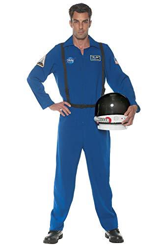Underwraps Men's Astronaut Flight Suit Costume, Blue, One Size