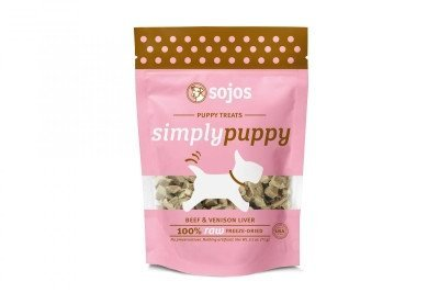 Sojos Simply Puppy Dog Treats Beef And Venison, 2.5 Ounces Per Pack