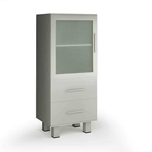 (Giantex Floor Storage Cabinet W/ 1 Door and 2 Drawers Adjustable Shelf Bathroom Bathroom Organizer Stand Chest)