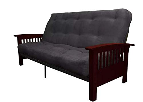 Handy Living Futon - Handy Living Thora Convert to Couch Futon Sofa Sleeper (Slate)