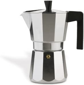Valira Vitro Cafetera de 3 tazas, no apta para inducción, Aluminio ...
