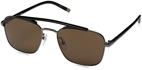Calvin Klein Men's Ck1221s Navigator Aviator Sunglasses, Gunmetal, 55 - Aviator Calvin Klein Sunglasses