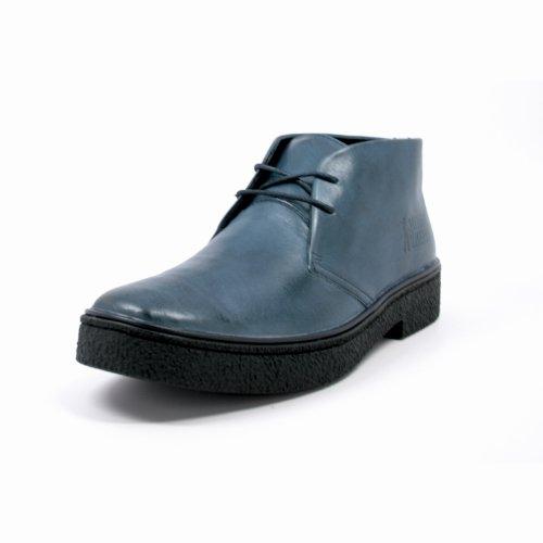 De Ursprungliga Brittiska Vandrare Mens Playboy Hög Topp Chukka Boots Navy Läder