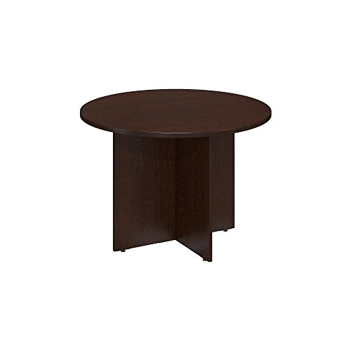 Bush Business Furniture Series C 42 Round Conference Table with Wood Base, Mocha Cherry