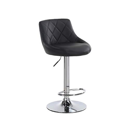 YOMXL Single Bar Stool Swivel Barstool Chair with Back Modern Pub Kitchen Counter Height Ergonomic Swivel Chair