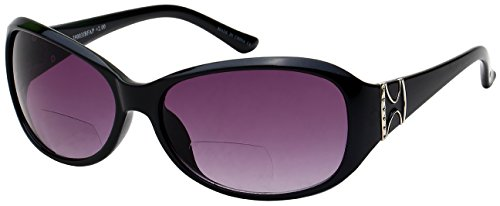 Edge I-Wear women's Oval Bifocal Sun Reader with Gradient Lens - Day Next Glasses Prescription