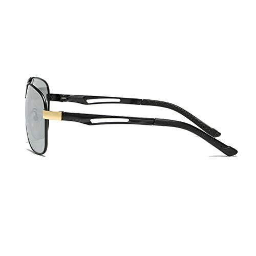 de polarizadas del Marco del Gafas Las Las de ShenZuYangShop Sol Las de de Gafas Sol de Retro Color los Llevar de de de Las para gold Gafas Gold Black Black Sol Hombres Gafas Sol Espejo Color metálico TwxAq6x7