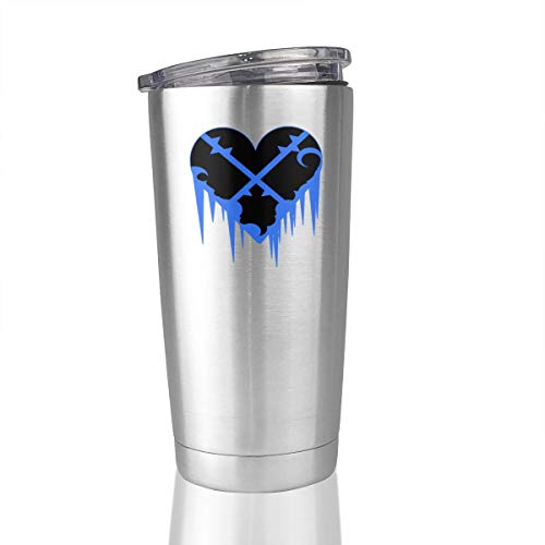 Heartless Logo Kingdom Hearts 20 Oz Stainless Steel Vacuum Insulated Tumbler Travel Mug ()