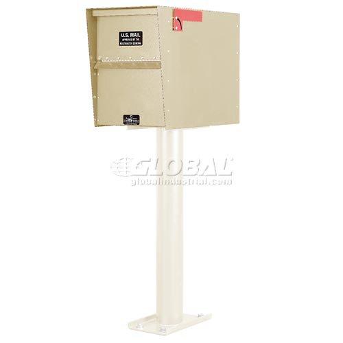 Aluminum Letter Locker Mailbox - Jayco LLA3RRSTD Standard Rear Access Aluminum Letter Locker Mailbox Tan