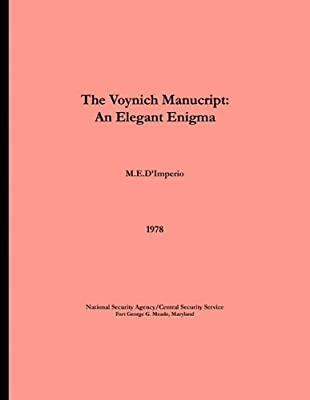 The Voynich Manuscript - An Elegant Enigma