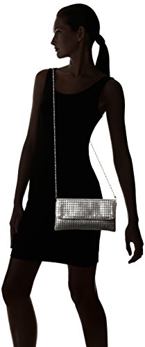 Mesh Clutch Chic Lightweight Metal Diff Bag Evening Colors Flap Avail Grey Silver FaF7nqrwE