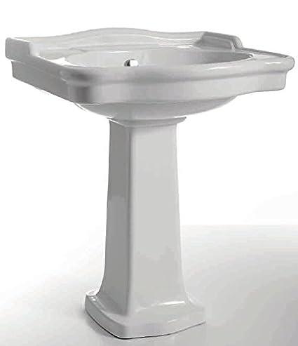 Ceramica Cielo Serie Windsor.Sanitari Bagno Lavabo E Colonna Windsor Bianco Di Ceramica