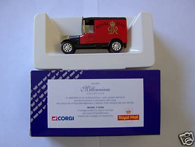 [Corgi Model T Ford Van Royal Mail Millenium Edition] (Van Royal Mail)