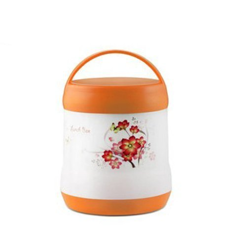 Lunch box heat insulation lunch box lunch box two-stage lunchbox side dishes cup for school, commuting, picnic rankings warmth health capacity 1.8L (Orange)