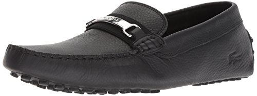 Lacoste Men's ANSTED Driving Style Loafer, Black, 9.5 Medium US