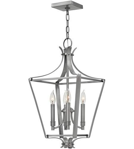Pendants 4 Light Fixtures with Polished Antique Nickel Finish Steel Material Candelabra 12