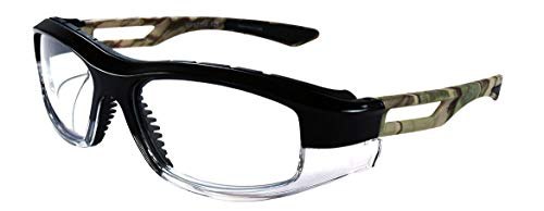 ArtCraft WF972C Protective Eyewear Unisex Full Rimmed Plastic Frames in Wraparound Shape Offered in Shiny Black & Cool Gray color from ()