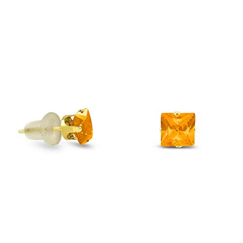 - Crookston Simulated Golden Yellow Citrine Stud Earrings 10k Yellow Gold - November | Model ERRNGS - 15033 | 2mm