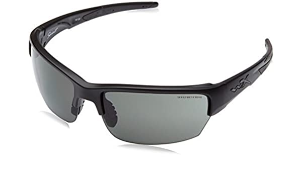 b2becd2445 Amazon.com   Wiley X Wx Saint Sunglasses - Matte Black Smoke  Grey Clear Light Rust