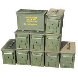 50 Cal Ammo Can (10 Pack) 50 Cal Ammo Types